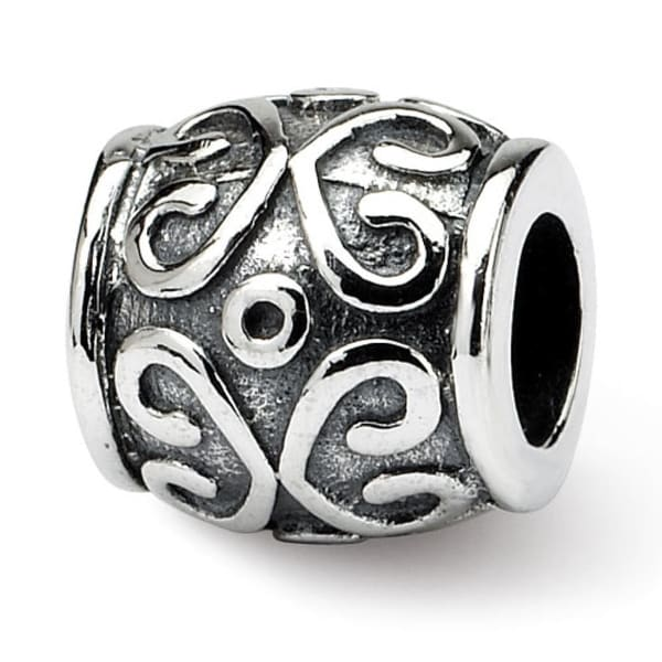 Sterling Silver Reflections Scroll Bali Bead (4mm Diameter Hole)