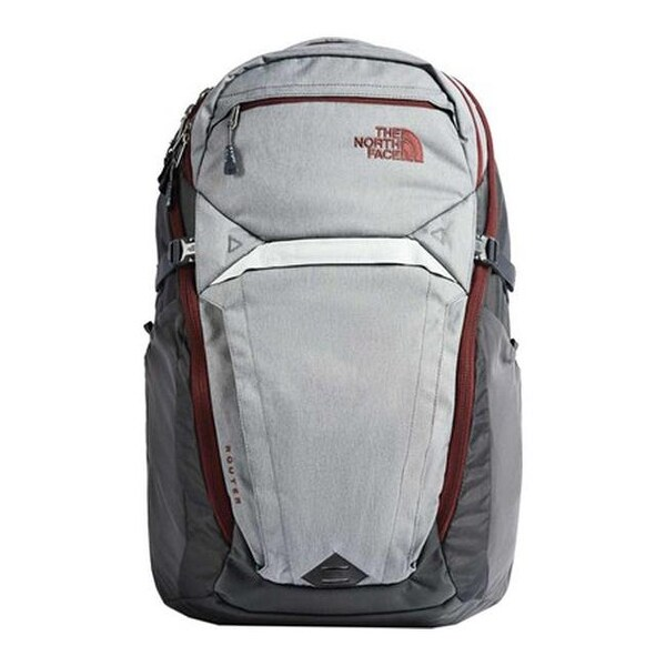 6c0ef2d538 Shop The North Face Router Backpack Zinc Grey Light Heather/Sequoia Red - US  One Size (Size None) - Free Shipping Today - Overstock - 25665292