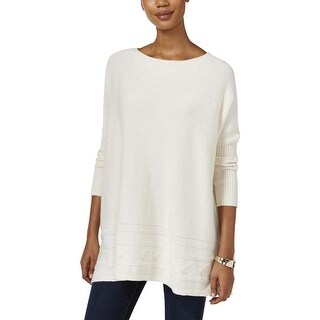 Style & Co. Ribbed Cable Knit Dolman Sleeve Sweater - 2Xl