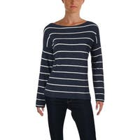 Vince Camuto Womens Pullover Sweater Asymmetrical Striped