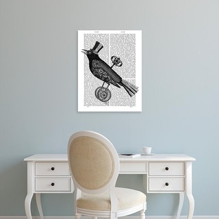 Easy Art Prints Fab Funky's 'Steampunk Crow' Premium Canvas Art
