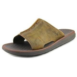 Clarks Kernick Open Toe Leather Slides Sandal