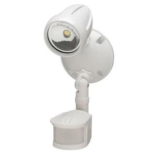 Heath Zenith HZ-8422 LED Motion Activated Single Head Outdoor Flood Light - White