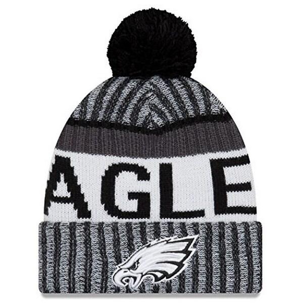 Shop New Era Mens Philadelphia Eagles 2017 Sideline Cold Weather Sport Knit  Hat 96443605d015
