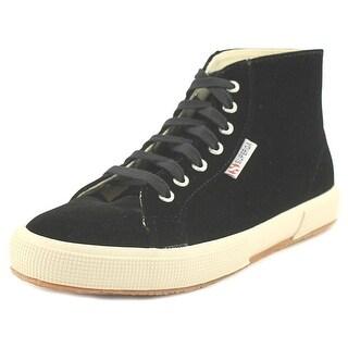 Superga 2095 Velvtw Women Round Toe Canvas Black Sneakers