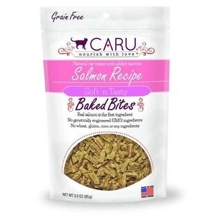Caru Pet Food 30700529 Cat Natural Salmon Receipe Bites, 3 oz