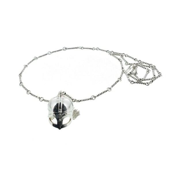 Aurélie Bidermann Womens Chain Necklace Silver Plated Medieval