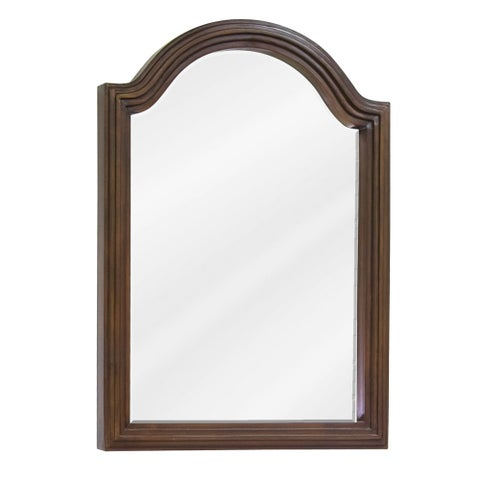 Elements MIR029D-60 Compton Collection Arched 22 x 30 Inch Bathroom Vanity Mirror - Walnut - N/A