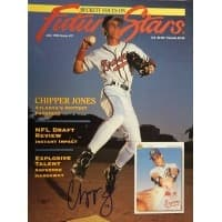 Signed Jones Chipper Atlanta Braves Beckett Magazine Cover Only autographed