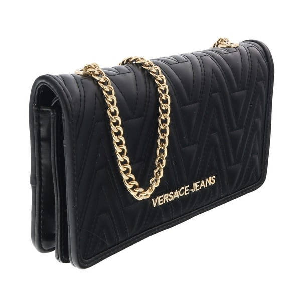 Versace EE3VRBPY4 Black Wallet on Chain - 7.5-4.5-1