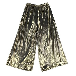 MSK NEW Gold Women's Size Large L Pull-On Wide Leg Metallic Pants