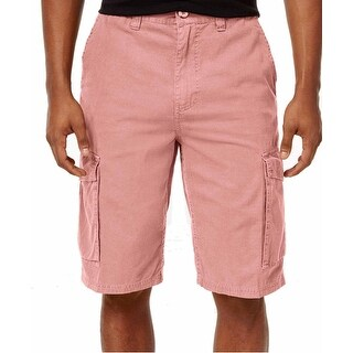 LRG NEW Pastel Pink Men's Size 36 Rip Stop Pocketed Cargo Shorts