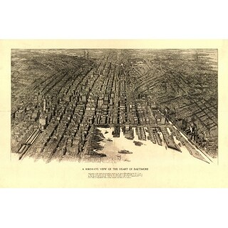 Baltimore, Maryland - (1912) - Panoramic Map (Keepsake Tin)