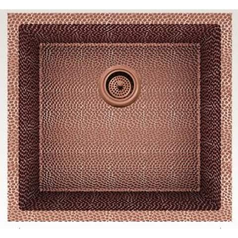 American Imaginations 19-in. W CSA Approved Rose Copper Kitchen Sink With Copper Finish And 16 Gauge - 18