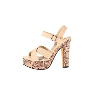 Luichiny Womens Is A Bell Platform Sandals Ankle Wrap Strappy