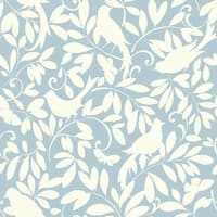 York Wallcoverings ER8135 Waverly Cottage Birdsong Wallpaper - N/A