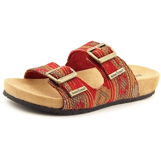 Minnetonka Gypsy Open Toe Canvas Slides Sandal