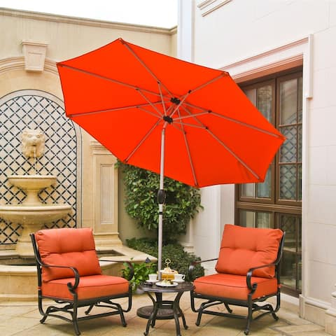 Bonosuki 9ft Patio Umbrella with Tilt and Crank Sunshade Canopy