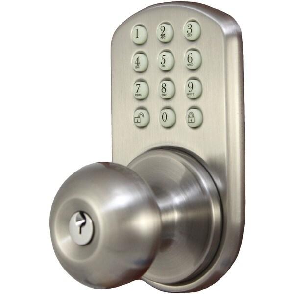 Morning Industry Inc Hkk-01Sn Touchpad Electronic Doorknob (Satin Nickel)