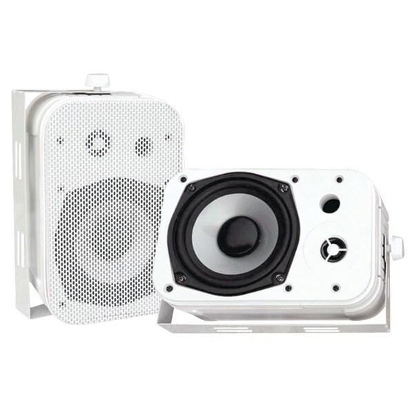 """PYLE PRO PDWR40W 5.25"""" Indoor/Outdoor Waterproof Speakers (White)"""