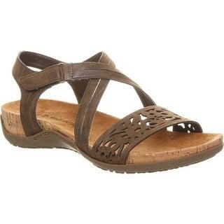 Bearpaw Women's Glenda Strappy Sandal Dark Brown Faux Leather