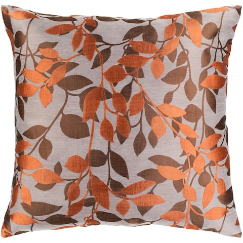 Decorative Skegness Rust 22-inch Leaves Throw Pillow Cover