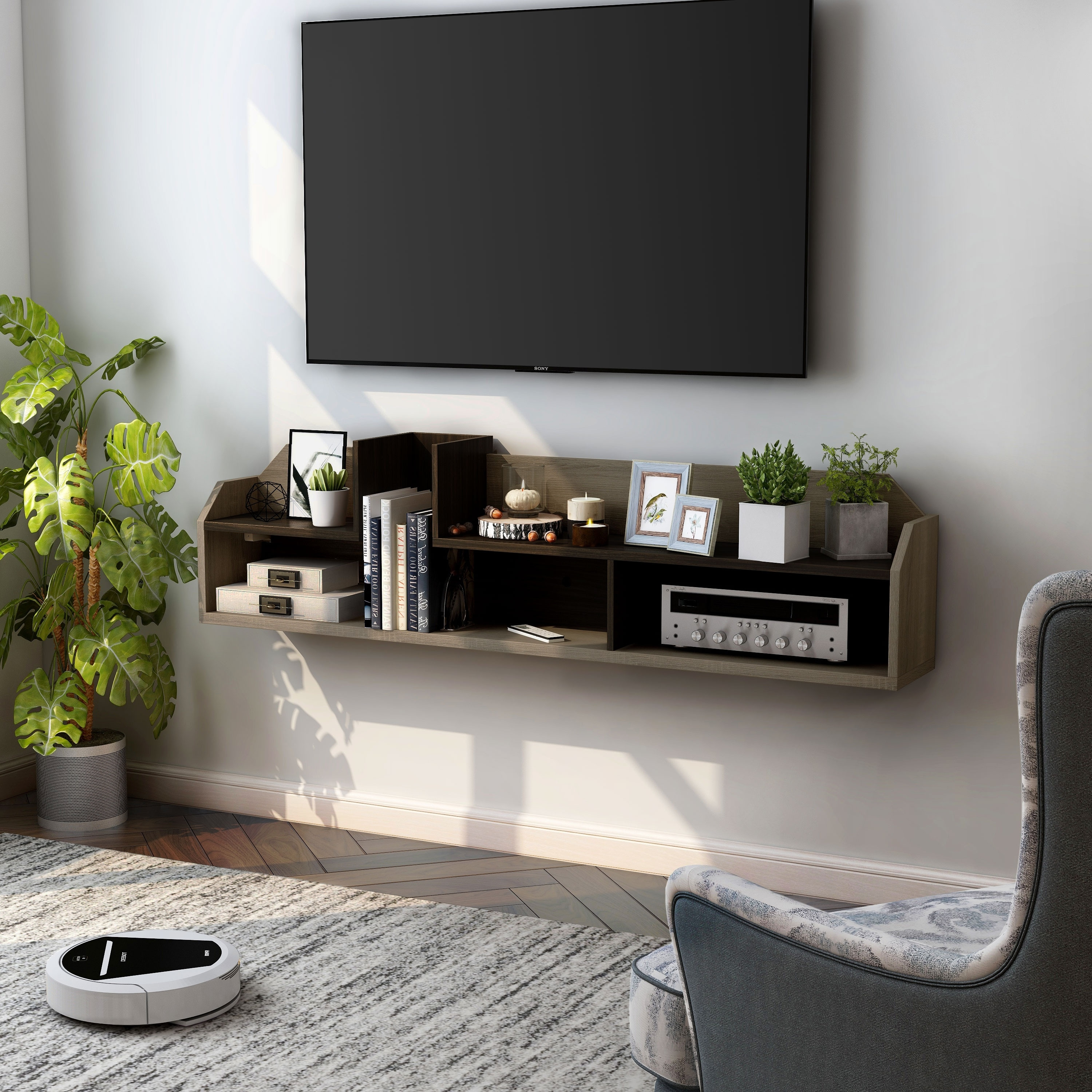 Furniture Of America Paulo Contemporary Wall Mounted Media Console Overstock 31292931