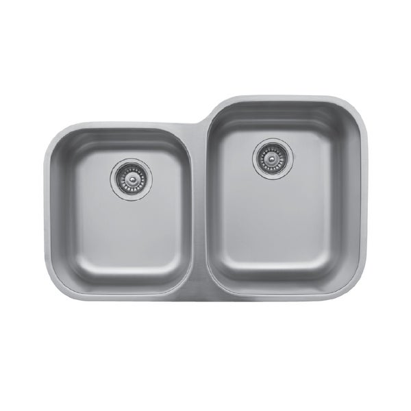 Karran Undermount Stainless Steel 32 in. Double Bowl Kitchen Sink. Opens flyout.
