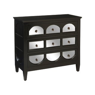 "GuildMaster 6416011  Transitional 36"" Wide 3 Drawer Mahogany Dresser - Grain De Bois Noir"
