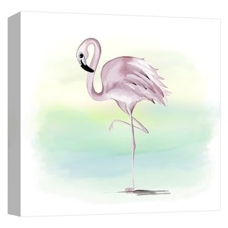 "PTM Images 9-124621  PTM Canvas Collection 12"" x 12"" - ""Tropical Flamingo"" Giclee Flamingos Art Print on Canvas"
