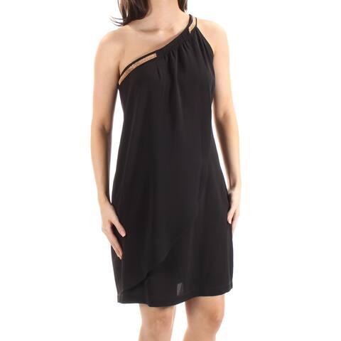 JESSICA SIMPSON Black Sleeveless Above The Knee Shift Dress Size 4