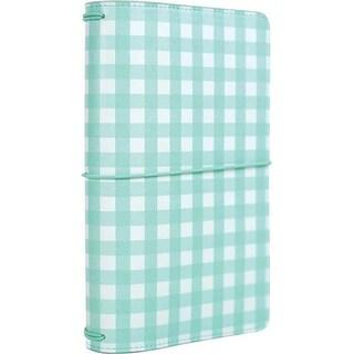 "Teal Gingham - Echo Park Traveler's Notebook 6""X9"""