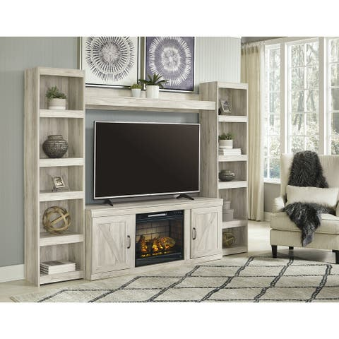 Bellaby 4-Piece Entertainment Center with Electric Fireplace