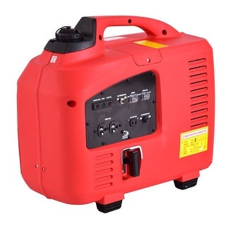 Costway Portable 2750W Digital Inverter Generator 4 Stroke 125cc Single Cylinder Red