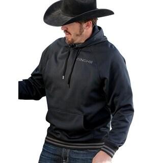 Cinch Western Sweatshirt Mens Hoodie Pull Over Logo Black