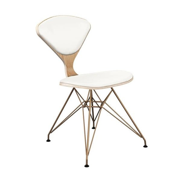 Nyekoncept 15000101 Natural Emmet Eiffel Chair White Leather