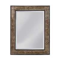 "Mirror Masters MW4094C Tameron 40.75"" Rectangular Mirror with Decorative Frame - antique silver/matte gold ebony - N/A"