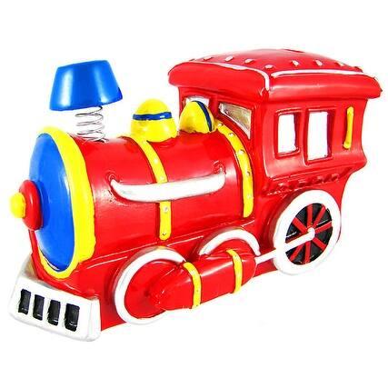 Bobble Smoke Stack Train Engine Locomotive Piggy Bank