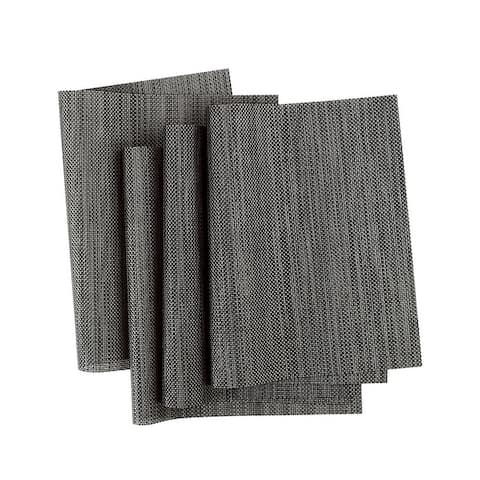 Heat Resistant Non-skid Removable PVC Table Mats Woven Placemats