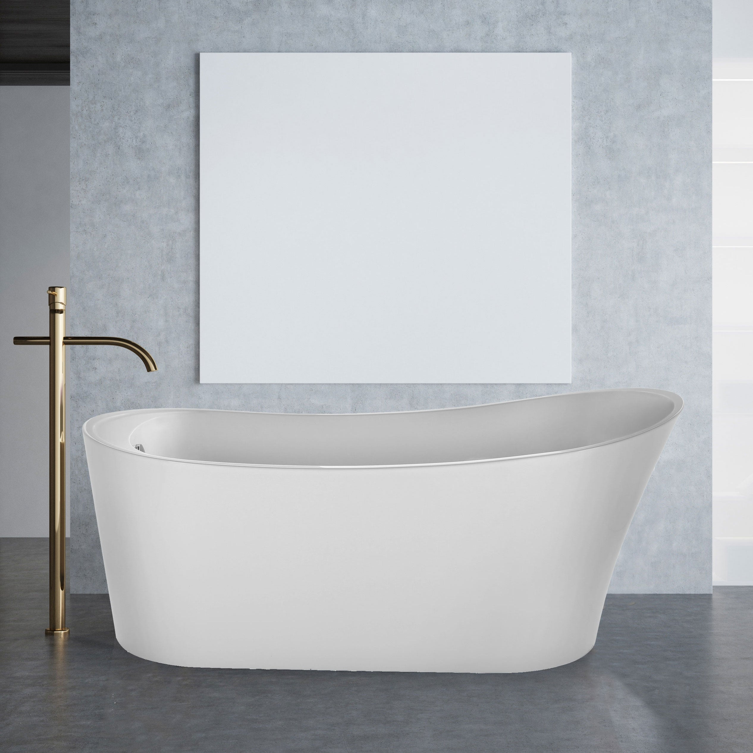 67 X 31 Freestanding Soaking Bathtub Overstock 31571233