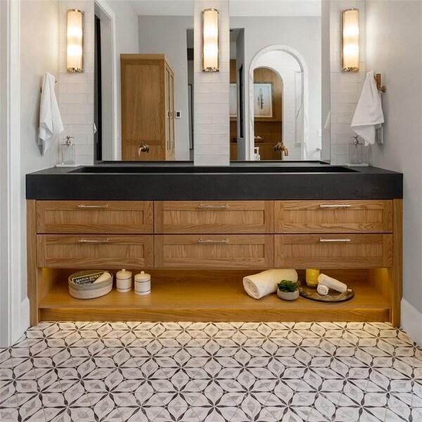 SomerTile Carra Bardiglio Floral Porcelain Hexagon Floor/Wall Tiles (25). Opens flyout.