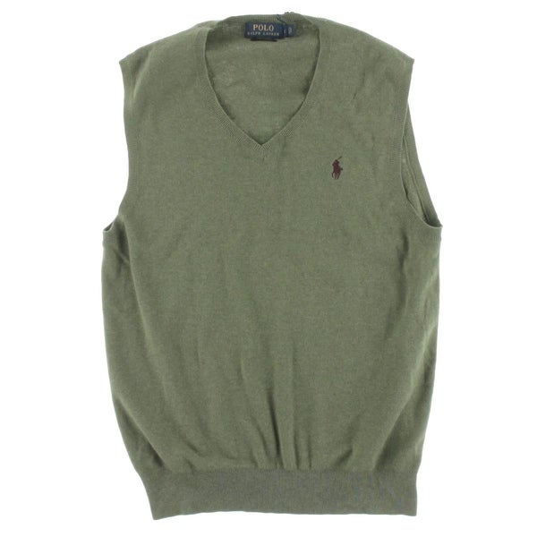 Shop Polo Ralph Lauren Mens Sweater Vest Pima Cotton V-Neck - Free ... aeb2f40a78