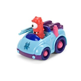 "Yo Gabba Gabba 4"" Figure: Muno in Blue Car"