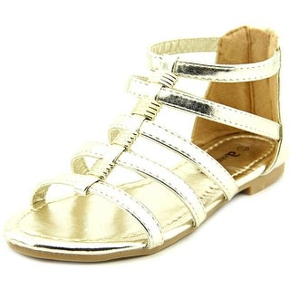 Famous Name Brand Jane 5K Youth Open Toe Synthetic Gold Gladiator Sandal
