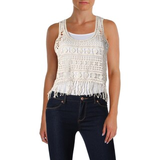 Denim & Supply Ralph Lauren Womens Crop Top Crochet Fringe