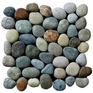 Miseno MT-P3PGO Pebble Natural Stone Mosaic Tile (10.12 SF / Carton) - blend