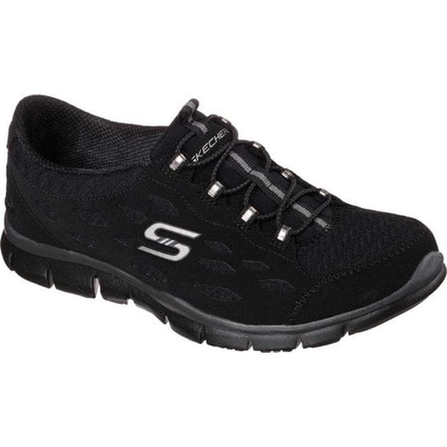 cc316e6823df3 Shop Skechers Women's Gratis Bungee Sneaker Full Circle/Black - On Sale -  Free Shipping Today - Overstock - 10361067