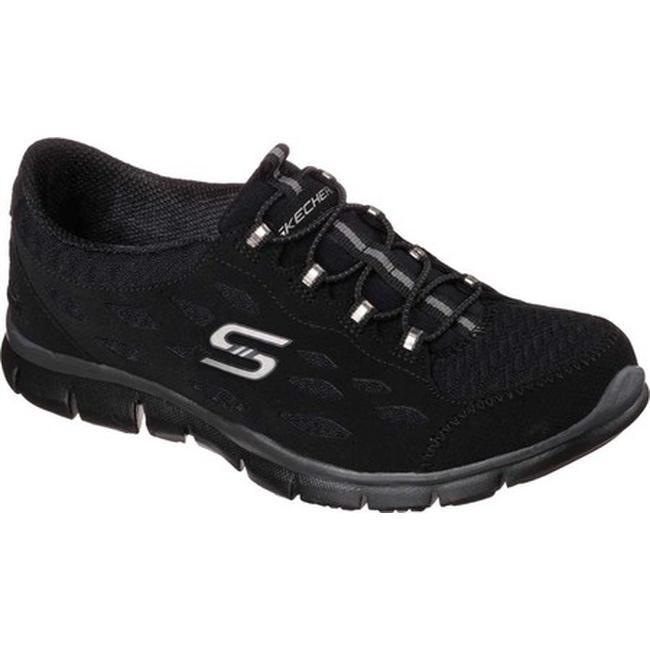 Shop skechers women s gratis bungee sneaker full circle black on