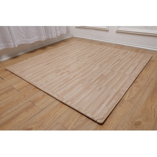 "Link to Ottomanson Soft EVA Foam Mat Wood-Print Flooring Tiles, 16PC, 12""x12"" Similar Items in Fitness & Exercise Equipment"