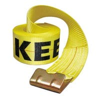"""Keeper 04926 Winch Strap With Flat Hook 30' x 4"""", Yellow"""